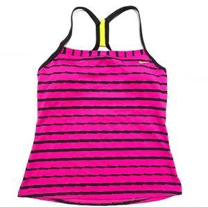 🥳 4/$30 | Nike Pink & Black Racer Back Tank Top